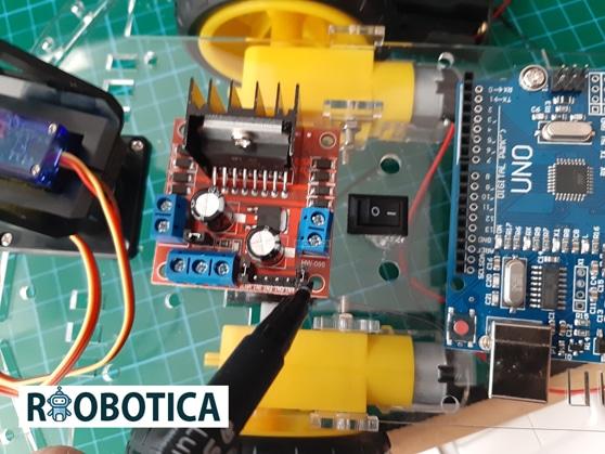 H L298N motor driver para coche robot