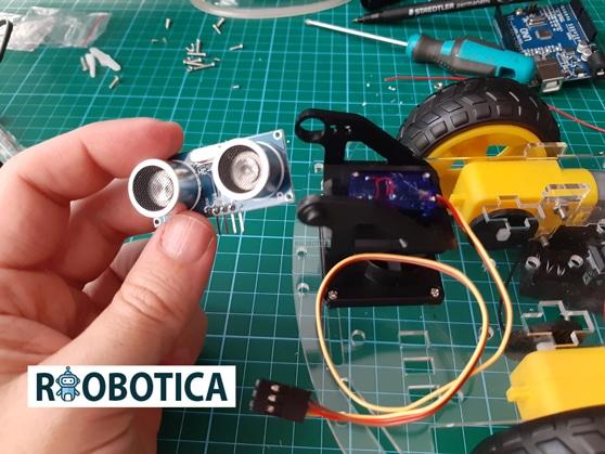 Sensor ultrasonidos arduino coche robot