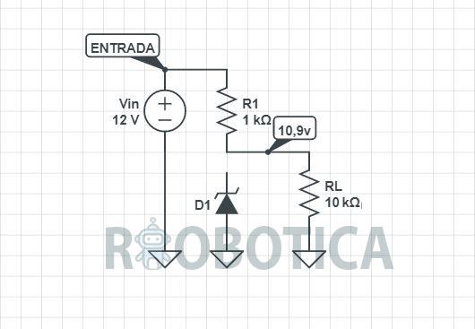 Regulador de tensión con un divisor de voltaje