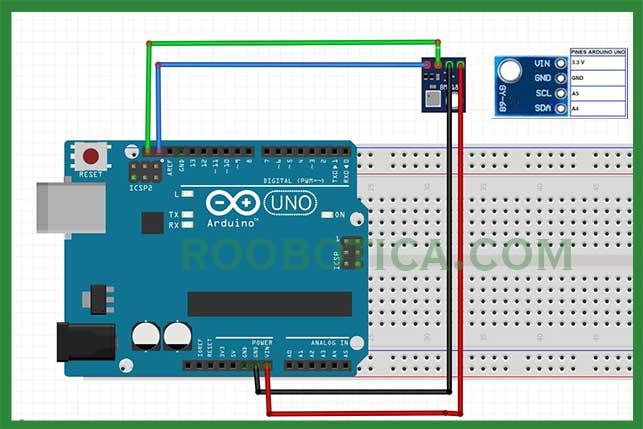 sensor bmp180 arduino esquema
